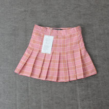 skirt Summer 2021 XS,S,M,L,XL Short skirt street Pleated skirt lattice 71% (inclusive) - 80% (inclusive) cotton Europe and America