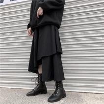 skirt Autumn 2020 Average size Versatile High waist Solid color 51% (inclusive) - 70% (inclusive) other
