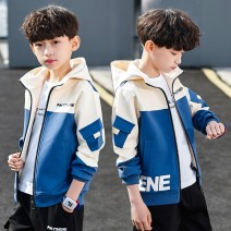 Plain coat Other / other male 120cm,130cm,140cm,150cm,160cm,170cm spring and autumn Korean version Zipper shirt There are models in the real shooting routine No detachable cap other cotton other Other 100% Class C