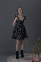 Dress Spring 2020 Frozen flowers S. M, l, s (pre-sale around mid April), m (pre-sale around mid April), l (pre-sale around mid April) Short skirt singleton  Sleeveless Sweet V-neck High waist Decor Princess Dress camisole 18-24 years old Type A Group of Universe 31% (inclusive) - 50% (inclusive)