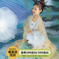 Hanfu 51% (inclusive) - 70% (inclusive) Big sleeve shirt - out of stock, top - out of stock, waist skirt - out of stock, white Sling - with sling S,M,L polyester fiber