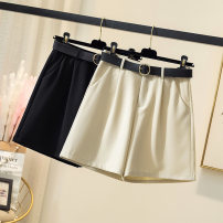 Women's large Summer 2021 Apricot, black Large XL, large L, large 2XL, large 3XL, large 4XL trousers other easy Solid color shorts