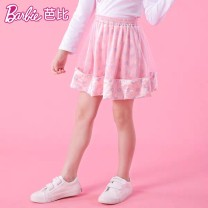 skirt 110cm,120cm,130cm,140cm,150cm,160cm Pink, Navy Barbie / Barbie female Cotton 95% polyurethane elastic fiber (spandex) 5% spring and autumn skirt Britain Cartoon animation A-line skirt cotton BA1177 Class B