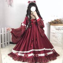 Dress Spring 2020 S,M,L Middle-skirt singleton  Long sleeves Sweet High waist Big swing Type A Chiffon Lolita