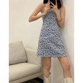 Dress Spring 2021 Yellow, blue Average size Short skirt singleton  Sleeveless commute square neck High waist Leopard Print Socket A-line skirt routine camisole 25-29 years old Type A Other / other Korean version 30% and below other cotton