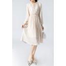 Dress Spring 2021 Blue, beige M, L Mid length dress singleton  Long sleeves commute Crew neck High waist Socket More than 95%