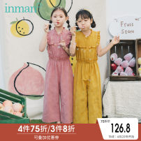trousers Inman / Inman female 110cm 120cm 130cm 140cm 150cm 160cm Pink yellow summer Ninth pants lady There are models in the real shooting Casual pants Leather belt middle-waisted Don't open the crotch Cotton 57.3% viscose 31.7% flax 11% 380_ TM21130a Class B Summer 2020 Chinese Mainland