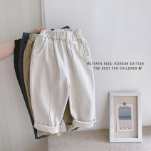 trousers Meiyaya neutral Tag 100 / recommended height 90cm, tag 110 / recommended height 100cm, tag 120 / recommended height 110cm, tag 130 / recommended height 120cm, tag 140 / recommended height 130cm spring and autumn trousers Korean version There are models in the real shooting Casual pants KD25