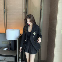 Fashion suit Spring 2021 S,M,L,XL Pleated skirt, coat, [three piece set] coat + Top + pleated skirt 18-25 years old Other / other