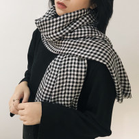 Scarf / silk scarf / Shawl cotton 3 yuan for scarf and leather Spring and autumn and winter currency Scarves / scarves keep warm solar system rectangle Students and young people lattice tassels 100cm 188cm ZXJ0ZQF18-8-22-4