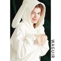 Sweater / sweater Autumn of 2019 white Average size Long sleeves Medium length Socket singleton  routine Crew neck easy commute routine Solid color 81% (inclusive) - 90% (inclusive) Retro cotton cotton