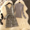 Fashion suit Spring 2020 S,M,L,XL,XXL We only sell woolen skirt, woolen skirt + grey undershirt, woolen skirt + Black undershirt, woolen skirt + white undershirt CINISIOR Fashion skirt 81% (inclusive) - 90% (inclusive) cotton