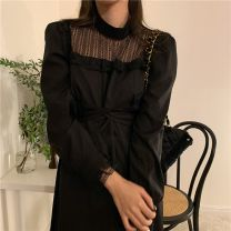 Dress Winter 2020 Black, beige Average size