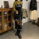 Dress Spring 2021 Suspender skirt, suspender skirt, suit coat, yellow base, black base S. M, average size 71% (inclusive) - 80% (inclusive)
