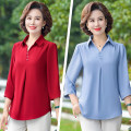 Middle aged and old women's wear Summer 2020, spring 2020 Red, blue, green, black, skin pink XL (recommended 95-110 kg), XXL (recommended 110-123 kg), 3XL (recommended 123-133 kg), 4XL (recommended 133-143 kg), 5XL (recommended 143-155 kg) fashion T-shirt Self cultivation singleton  Solid color thin