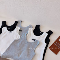 Vest sling Wang gray, Wang black, Wang white, sewing standard white, sewing standard black, sewing standard gray Sleeveless summer Other / other neutral No model Korean version Solid color Crew neck nothing AD0918