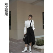 skirt Summer 2020 S, M black Mid length dress Versatile High waist Irregular Solid color Type A 51% (inclusive) - 70% (inclusive) other Cellulose acetate