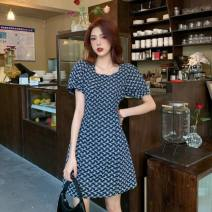 Dress Summer 2021 Picture color S,M,L,XL Short skirt singleton  Sleeveless commute Crew neck middle-waisted Broken flowers Socket A-line skirt other camisole 18-24 years old Type A Other / other Korean version printing tgd139237980326 30% and below other polyester fiber