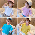 T-shirt White, yellow, pink, peacock green ConnyStyle 110cm,120cm,130cm,140cm,150cm,160cm,165cm female summer Short sleeve Crew neck Korean version There are models in the real shooting nothing Pure cotton (100% cotton content) Solid color Cotton 100% LY261-1 7, 8, 9, 10, 11, 12, 13, 14