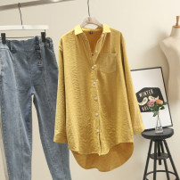 shirt Yellow, white, pink, blue, lavender The recommended weight for 1XL is 130-150 kg, that for 2XL is 160-180 kg, that for 3XL is 180-200 kg, and that for 4XL is 200-220 kg Spring of 2019 cotton 30% and below