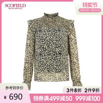 shirt Spring 2021 polyester fiber 96% and above Long sleeves commute Regular other Broken flowers 30-34 years old SCOFIELD