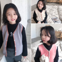 Vest neutral Grey, beige, magenta 5(90),7(100),9(110),11(120),13(130),15(140),17(150) Send sauce winter thickening There are models in the real shooting Single breasted Korean version cotton Solid color Other 100% Class B other Cotton liner Chinese Mainland
