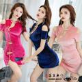Dress Autumn of 2019 Rose, pink, dark blue S,M,L,XL,2XL