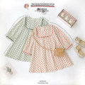 Dress Red, green female Can Rhine 90cm,100cm,110cm,120cm,130cm Other 100% spring and autumn Korean version Long sleeves Broken flowers cotton other B482 Class B 3, 4, 5, 6, 7 Chinese Mainland Guangdong Province Foshan City