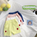 trousers Can Rhine female 90cm,100cm,110cm,120cm,130cm Pink, blue, white, yellow summer shorts No model Jeans Leather belt middle-waisted cotton Don't open the crotch Other 100% Class B 2 years old, 3 years old, 4 years old, 5 years old, 6 years old