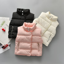 Vest neutral 90cm,100cm,110cm,120cm,130cm Can Rhine winter Plush No model double-breasted cotton Solid color Other 100% Class B other Cotton liner 2 years old, 3 years old, 4 years old, 5 years old, 6 years old
