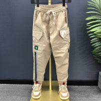 trousers Other / other male 1XL (for 137-144 height), 2XL (for 145-149 height), 3XL (for 150-158 height), 4XL (for 160-165 height), 5XL (for 165-169 height) Black, Khaki No season trousers Korean version No model Casual pants Leather belt middle-waisted cotton Don't open the crotch Class B