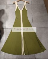 Dress Spring 2021 Graph color longuette singleton  Sleeveless commute High waist Solid color Socket routine 25-29 years old Type H Splicing