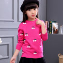 Sweater / sweater 110cm,120cm,130cm,140cm,150cm,160cm cotton female Black, rose red, red, pink, Navy, light rose red, plush rose red cherry, plush black cherry, plush pink dot, plush Navy dot, plush rose red kitten, plush red kitten Other / other college There are models in the real shooting Socket