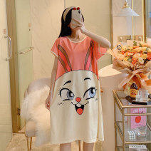 Nightdress Other / other One size fits all (90-170) Cartoon Short sleeve pajamas Middle-skirt summer Cartoon animation youth Crew neck cotton printing 81% (inclusive) - 95% (inclusive) pure cotton 200g and below