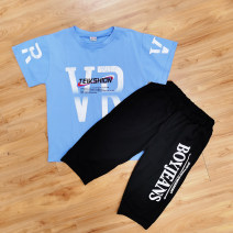 suit Other / other male summer leisure time Short sleeve + pants 2 pieces There are models in the real shooting Socket other children T182 Three, four, five, six, seven, eight, nine, ten, eleven, twelve Chinese Mainland