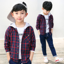 shirt Other / other male 110cm,120cm,130cm,140cm,150cm,160cm,170cm winter Long sleeves leisure time lattice