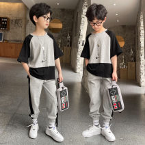 suit Nalanpig / Nalan pig Black, purple 110cm,120cm,130cm,140cm,150cm,160cm male summer leisure time Long sleeve + pants 2 pieces routine There are models in the real shooting Socket nothing other other children Giving presents at school 21T002 Class B Other 100% Chinese Mainland Henan Province