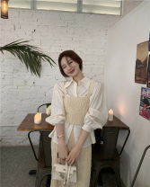 shirt Apricot shirt, sling apricot, skirt apricot, sling pink, skirt pink Average size Spring 2021 other 51% (inclusive) - 70% (inclusive) Long sleeves commute Polo collar Single row multi button routine Solid color 18-24 years old Straight cylinder Other / other Korean version