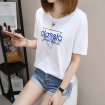 T-shirt M L XL Summer 2017 Short sleeve Crew neck easy Regular routine commute cotton 86% (inclusive) -95% (inclusive) 18-24 years old Korean version