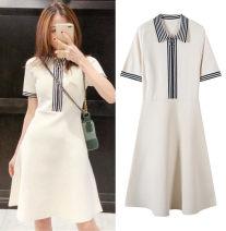 Dress Summer 2020 Slim Polo skirt S,M,L Short sleeve knitting