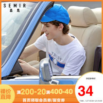 T-shirt Youth fashion routine Semir / SEMA Short sleeve Crew neck standard daily summer Cotton 94.9% polyurethane elastic fiber (spandex) 5.1% youth routine tide 2020 other printing Cotton ammonia Domestic famous brands