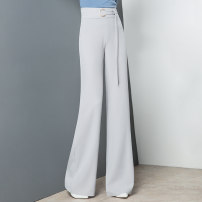 Casual pants 26 (1'9), 27 (2's), 28 (2'1), 29 (2'2), 30 (2'3), 31 (2'4), 32 (2'5) Spring 2021 trousers Wide leg pants High waist commute routine Shu can other Simplicity Three dimensional cutting