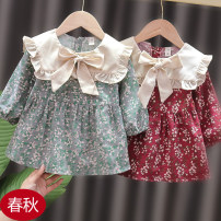 Dress female Other / other Cotton 100% spring and autumn Korean version Long sleeves Broken flowers cotton Splicing style Class B 3 months, 12 months, 6 months, 9 months, 18 months, 2 years old, 3 years old Chinese Mainland Zhejiang Province Ningbo City
