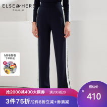 Casual pants blue S M L XL XXL Spring 2020 trousers Wide leg pants High waist Versatile routine 30-34 years old 71% (inclusive) - 80% (inclusive) Koradior elsewhere polyester fiber Collage Viscose (viscose) 76.6% polyamide (nylon) 23.4% Same model in shopping mall (sold online and offline)