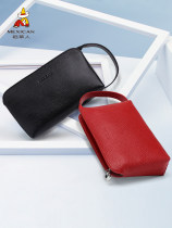 wallet other cowhide Mexican / Scarecrow Light blue lotus root powder earth yellow deep brown style 2 Black Style 2 red black red brand new Japan and South Korea female zipper Solid color 90% off Horizontal style youth Zipper case Embossing Textile DH032923L-09 top layer leather