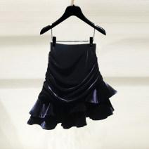 skirt Spring 2021 1 / XS (26), 2 / S (27), 3 / M (28), 4 / L (29), 5 / XL (30) black Short skirt commute High waist A-line skirt Solid color Type A 1200236-4210811-001 91% (inclusive) - 95% (inclusive) other Pinge Dixin zipper Korean version