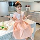 Dress Yellow 2066 lace collar dress, orange 2066 lace collar dress female Other / other 110cm,120cm,130cm,140cm,150cm,160cm,170cm,180cm Other 100% summer Korean version Short sleeve Solid color cotton A-line skirt Class B 2, 3, 4, 5, 6, 7, 8, 9, 10, 11, 12, 13, 14 years old