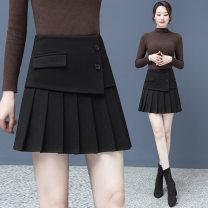 skirt Winter 2020 26 / s 80-95 Jin, 27 / m 95-105 Jin, 28 / L 105-110 Jin, 29 / XL 110-115 Jin, 30 / 2XL 115-125 Jin, 31 / 3XL 125-135 Jin Black, Khaki Short skirt commute High waist A-line skirt Solid color Type A 25-29 years old 2932K3100 81% (inclusive) - 90% (inclusive) Wool polyester fiber