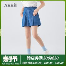 trousers Annil / anel female 110cm 120cm 130cm 140cm 150cm 160cm 170cm summer shorts leisure time There are models in the real shooting Casual pants Leather belt middle-waisted cotton Don't open the crotch Cotton 100% Class B Summer 2020