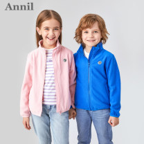 Plain coat Annil / anel neutral 110cm 120cm 130cm 140cm 150cm 160cm 170cm spring and autumn leisure time Zipper shirt There are models in the real shooting Plush nothing Solid color other square neck Polyester 100% Class C Autumn of 2019